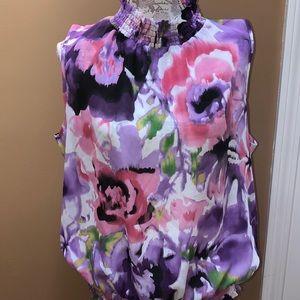 Serenade NY Watercolor Floral Tank XL